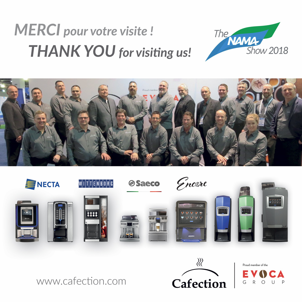NAMA Show 2018 – Thank you for visiting us!  | Cafection Coffee Machine | Quebec